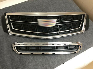 Grill For Cadillac Xts 2013 2017 Radiator Front Bumper Upper Lower Grille Vent