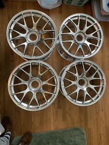 Porsche 996 997 Rs Rsr Gt3 Cup Bbs Monoblock Wheels Re 1319 Re 1240 18x10 18x12