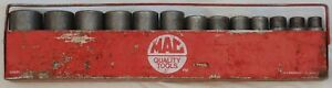 Mac Tools 13 Piece 1 2 Inch Drive Sae Deep Impact Socket Set 6 Point With Tray