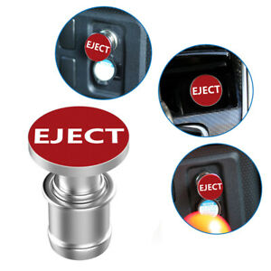 1 Sports eject Push Button Design Car Cigarette Lighter Plug Car Accessories