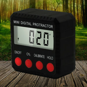 Inclinometer Angle Gauge Meter Digital Lcd Protractor Electronic Level Box Tool