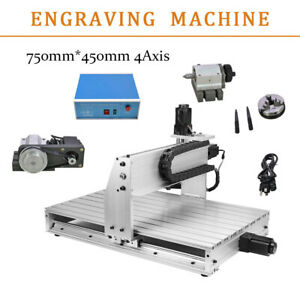 4 Axis Cnc 0 8kw 6040 Router Engraving Usb Port Machine Metal Milling Drilling