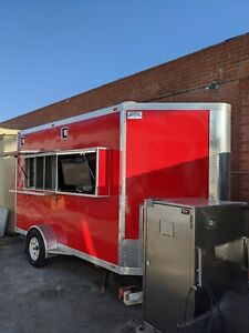 Used 12 X 7 Food Trailer Concession 2019 Bbq Fully Loaded Barbecue