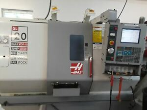 Haas Sl 20t Cnc Lathe 2004 Live Tooling Included Under Power Video T s