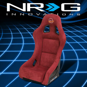 Nrg Innovations Maroon Alcantara Bucket Racing Seat Med Size Frp 303mar Prisma