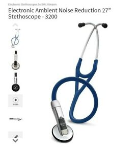 3m Littmann Electronic Stethoscope Model 3200 With Bluetooth N Blue No Box