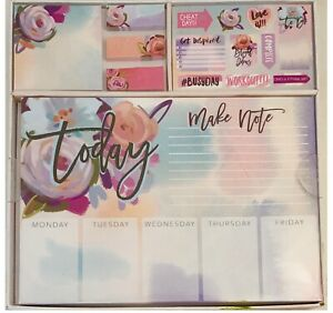 Planner Set Stickers Memo Pad Note And Weekly Pads Cute Office Desk Accessories