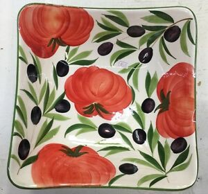 Deruta Pottery 11 inch Bowl With Olives made painted by hand in Italy