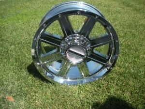 20x9 Et12 Raceline 940c Hostage 8x180 Chrome Wheels Used In Great Condition 4
