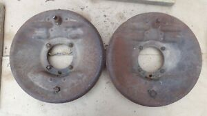 1928 1931 Model A Ford Front Backing Plates Original Pair Coupe Sedan Pickup