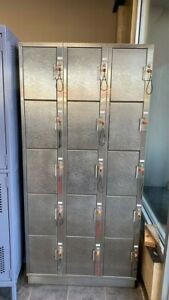 3x5 Metal Lockers 36 X 76 X 18 great For Pools Gyms Recreational Lockers