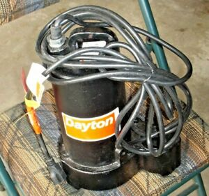 Dayton 3bb74 1 2 Hp 120vac Submersible Sump Pump Free Shipping