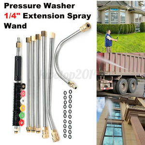 7pcs High Pressure Washer 1 4 Extension Spray Rod Lance Wand U type W O ring