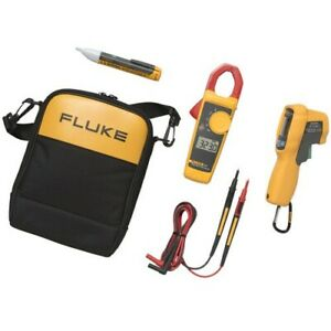 Fluke 62 Max 323 1ac Ir Thermometer Clamp Meter And Voltage Detector Kit