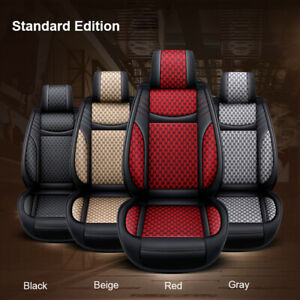 Us Car Suv 5 Seat Leather Linen Seat Cover Front Rear For Honda Accord Civic Crv