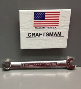Craftsman 8 Mm Combination Wrench Usa Vv 42912 New Old Stock 12 Point