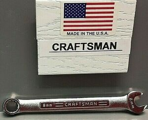 Craftsman 8 Mm Combination Wrench Usa Va 42912 New Old Stock 12 Point V