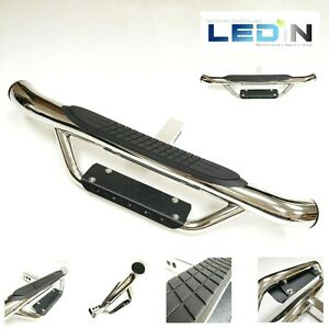 For 2 Receiver Truck Heavy Duty Steel Tow Hitch Step Bar Guard Drop Step Chrome