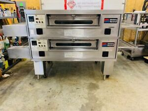 Middleby Marshall Ps570g Nat Gas Double Deck Conveyor Pizza Ovens Fully Refurbis