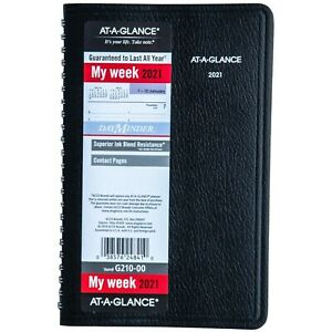 2021 At a glance Dayminder G210 00 Weekly Appointment Book 5 1 2 X 8 1 2 New