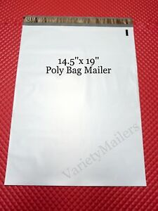 50 Large Poly Bag Mailers 14 5x19 Big Self sealing Plastic Shipping Bags