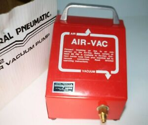Vacuum Pump Central Pneumatic 3952 Air Vacuum Pump Shop Tools New