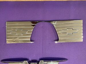 1957 1958 Original Chevy Cameo Truck Bed Inserts Bow Ties Pair Show Chrome