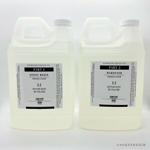Epoxy Resin 1 Gallon Kit Super Gloss Coating Crafts Table Tops Crystal Clear