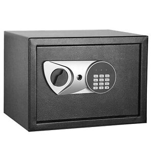 Safety Box Security Home Office Digital Lock Jewelry Black Safe Money 0 5 Cubic