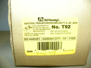 New Sid Harvey s Ignition Transformer Beckett A af afg No t92 New In Box