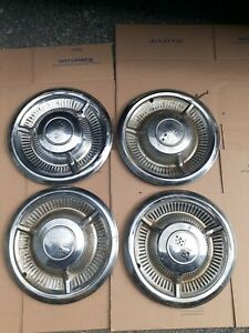 Set Of 4 1958 Chevy Impala bel Air 14 Wheel Covers hubcaps