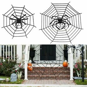 Halloween Giant Spider Web Indooramp;Outdoor Spooky Haunted House Party Decoration