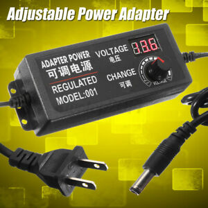 9 24v 3a 72w Speed Control Volt Ac dc Adjustable Power Adapter Supply 50 60hz