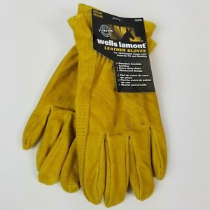 Wells Lamont Premium Leather Work Gloves Medium Cowhide Leather 1209m