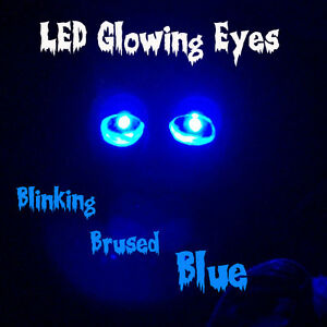 Led Glowing Eyes Blinking Halloween Blue 5mm 9 Volt 9v Pulsating