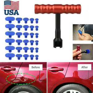 30pcs Pdr Tools Car Body Dent Repair Kit Hail Removal Puller For Auto Hit Damage