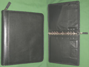 Monarch 1 25 Black Full Grain Leather Franklin Covey Quest Planner Binder