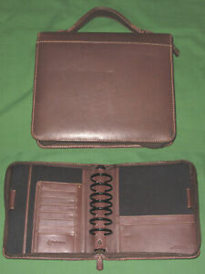 Classic 2 0 Brown Full Grain Leather Franklin Covey Planner Handle Binder