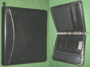 Monarch 1 25 Black Full Grain Leather Franklin Covey Planner Binder 6078