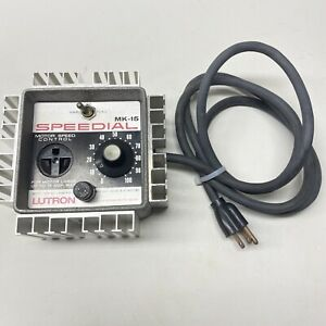Lutron Speedial Variable Speed Motor Control 15a Model Mk 15