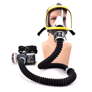 Full Face Gas Mask Flow Respirator Electric Supplied Air Fed Constant Facepiece