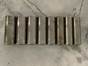 Craftsman Tools 3 8 Drive 6 Point Deep Socket Set Metric 12mm To 19mm Usa Made