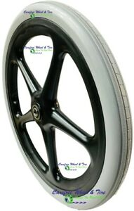 20x1 75 Utility Cart Wheel With Solid Non marking Grey Tire