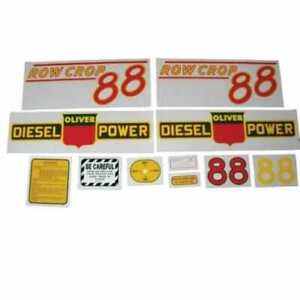 All Machinery Parts Oliver 88 Row Crop Decal Set Diesel Red Mylar 102886 eas