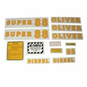 All Machinery Parts Oliver Decal Set Super 88 Diesel Mylar 102901 eas