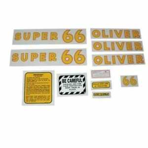 All Machinery Parts Oliver Decal Set Super 66 Mylar 102896 eas