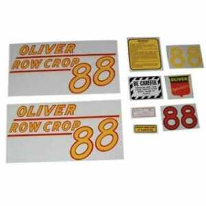 All Machinery Parts Oliver 88 Row Crop Decal Set Yellow Mylar 102883 eas