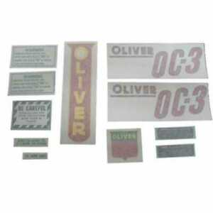 All Machinery Parts Oliver Decal Set Oc 3 Red Vinyl 102934 eas