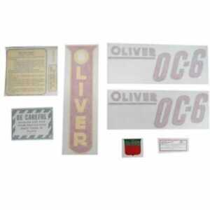 All Machinery Parts Oliver Decal Set Oc 6 Red Vinyl 102936 eas