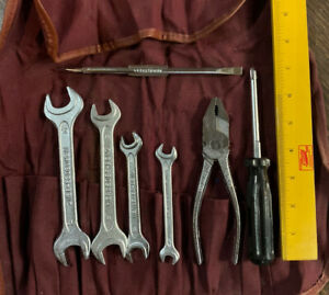 Mercedes Benz Original Factory Tool Kit Complete With W Canvas Bag
